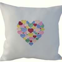 Heart of Hearts, Embroidered Feature Cushion
