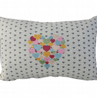 Heart of Hearts Cushion, Embroidered Cushion, Feature Cushion, Throw Pillow