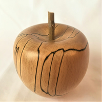 Woodturned  Apple in English Spalted Beech