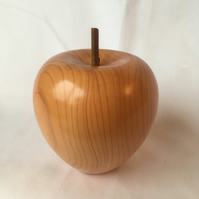 Woodturned Apple made in English Yew