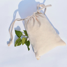 100 pcs of 5x7 Inches Organic Cotton Reusable Double Drawstring Muslin Bags.