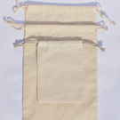 100 pcs of 8x10 Inches Organic Cotton Reusable Double Drawstring Muslin Bags.