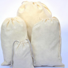 100 pcs of 12x16 Inches Organic Cotton Reusable Double Drawstring Muslin Bags.