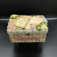 Jewelery Box with a Fairy Tale Theme, Vintage Style Memory Box