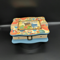MDF Jewellery Storage Box with Notebook, Hot Air Balloon Theme