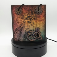 Wood Gift Bag or Storage Box in the Steampunk Style