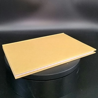 Hardback Lined Notebook A5 in Manilla colour