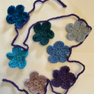 Flower Garland bunting crochet
