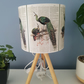 20cm Handmade drum lampshade peacock design.