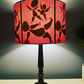 Pink and black handmade lampshade 30cm