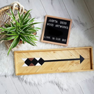 Wooden Arrow , Wood Wall Art, Boho Wood Art, Wood Hanging, Art,
