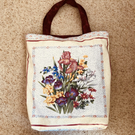 Floral tote bag, lined with key hook