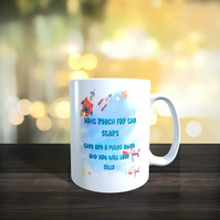 Humorous Anti Inspirational 11oz Ceramic Mug 'Don't Reach For The Stars.......
