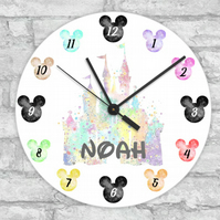 mouse head clock, childs clock,bedroom clock