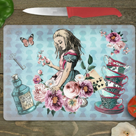 Alice in Wonderland chopping board, cutting board, queen of hearts