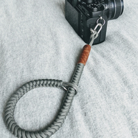 Wanderers Camera Wrist strap,steel grey,leather Finish,Made to wander