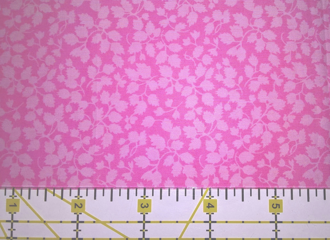 "Liberty Tana Lawn Fabric 10"" Square : GLENJADE Pink Floral Leaves"