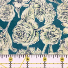 "Liberty Fabric Scrap 10"" Square : SHEREE Green White Floral"