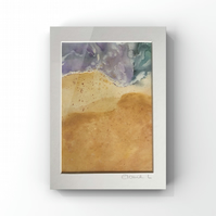 Abstract watercolour of beach, sea and sand