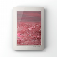 Raspberry Ripple abstract pink sea in Acrylic