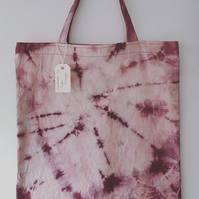 Hand Made 'Shibori Style' Resist Dyed Calico Bag