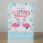 "A6 ""Cor, You're Flaming Gorgeous"" Illustrated Flamingo Valentine's Card"