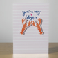 "A6 ""You're My Lobster"" Cute Valentine's, Anniversary, Birthday Card"