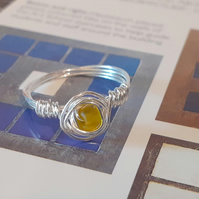 The Mackintosh Yellow Wire wrapped Ring (Size 8)