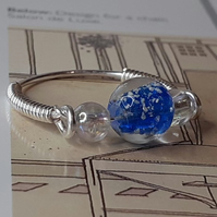 The Mackintosh Blue droplet bead Ring.