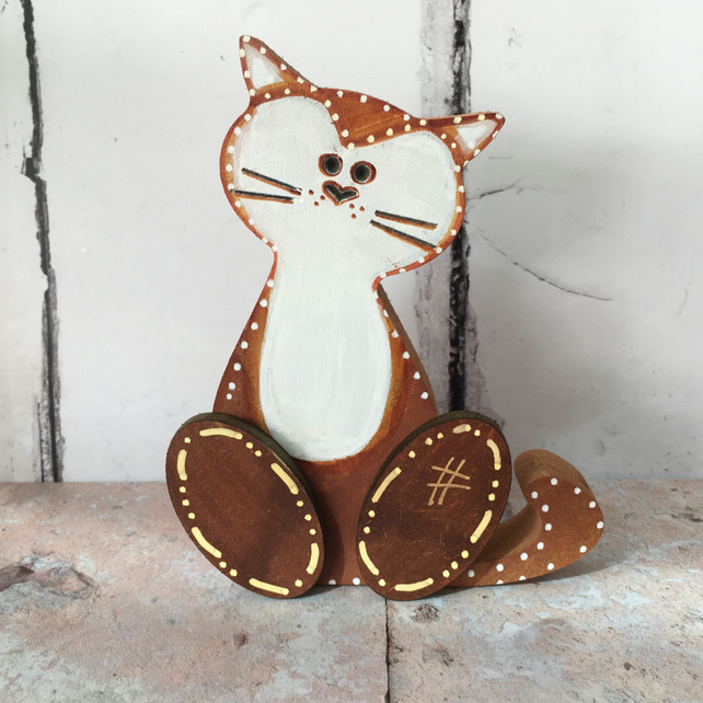 SALE Wood cat  shelf sitter