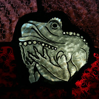 Glorious Gargoyles - Stained Glass, light catcher - FROG 2