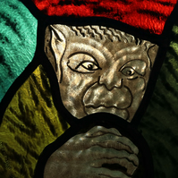 Glorious Gargoyles - Stained Glass window hanging - Monkey