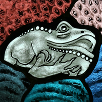 Glorious Gargoyles - Stained Glass window hanging - Frog 3