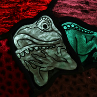 Glorious Gargoyles - Stained glass window hanging - FROG 4