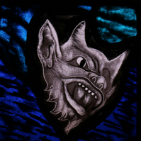 Glorious Gargoyles -Stained Glass window hanging - Devil 1