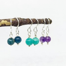 Sterling Silver Gemstone Drop Earrings
