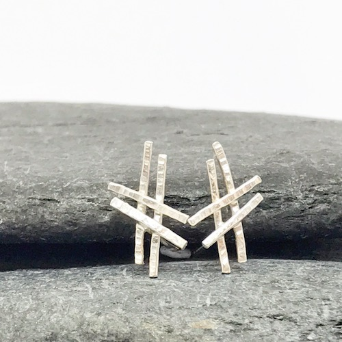 Sterling Silver Hashtag Earrings - ON SALE