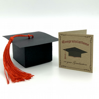 Mini Graduation Card and Mortarboard Cap Box. Funny gift for him or her.