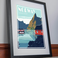 Norway Lofoten Island Print Poster Canvas Artwork pictureHome Decor norge