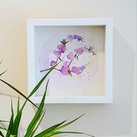 Original framed watercolour by Beverley Ismail