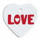 Love Bold Heart Ceramic Plaque