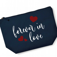 Forever In Love Organic Cotton French Navy Accessory Bag