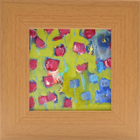 Small Framed Original Painting of Tulips