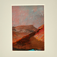 ACEO Original Painting of Mountain Top