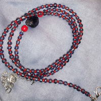 Herukhuti Justice Purple and Red African Waist Beads