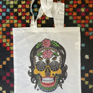 Original art Skull Tote Bag