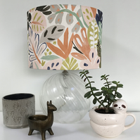 Contemporary Botanical Lampshade
