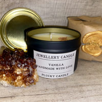 Surprise Jewellery Candle (Sterling Silver) Vegan, Soy wax, Handmade