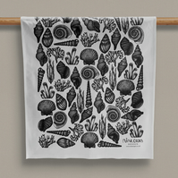 Seaside Design Cotton Tea Towel