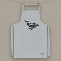 Whale Design Cotton Apron